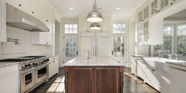 Contrasting Kitchen Island