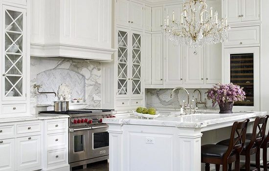 white sparkly kitchen
