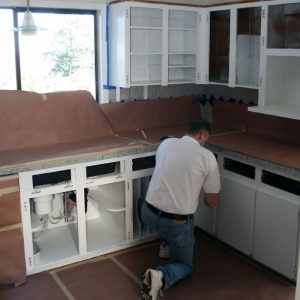 Triangle Cabinet Refacing