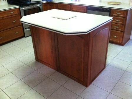 refinished island cabinets triangle cabinet cures