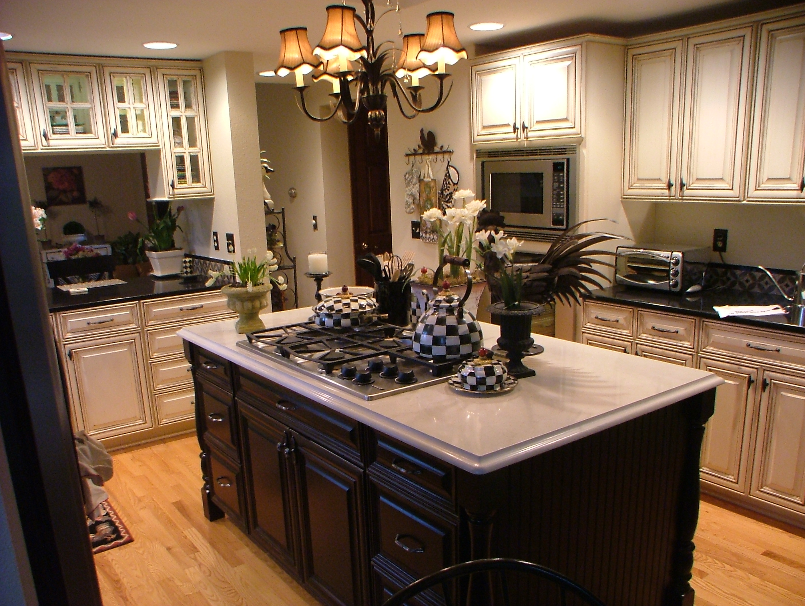 White Kitchen Cabinets Dark Island Cabinets Cabinet Cures Of Raleigh Durham