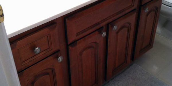 Bathrom Cabinet Refacing by Triangle Cabinet Cures
