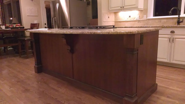 modern corbel red kitchen island triangle cabinet cures