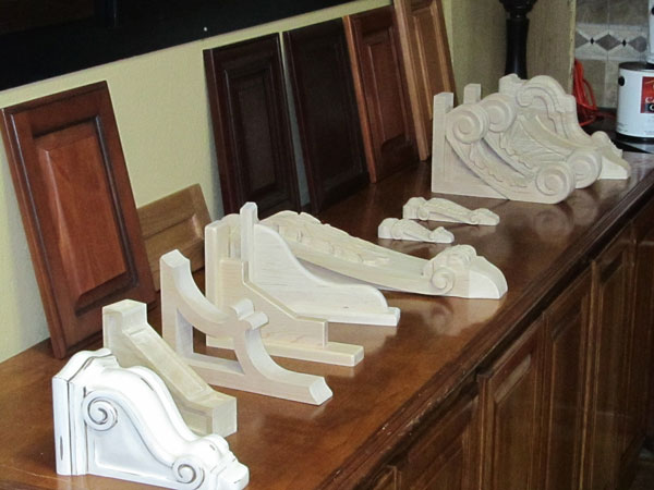 unfinished wood corbels triangle cabinet cures
